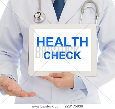 Doctor Invite You To The Annual Health Check At The Hospital. Concepts Of Medical, Health Check, Hea