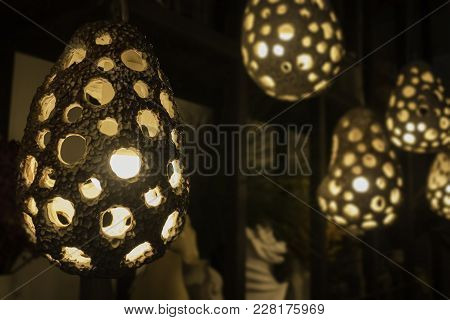 Decorative Cray Light Bulbs In Modern Style, Stock Photo