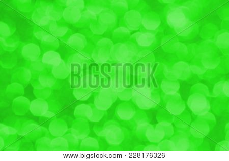 Bright Vivid Pastel Green Abstract Background. Bright Light And Festive Backdrop For Springtime Holi