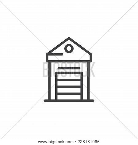 Greenhouse Outline Icon Linear Style Sign For Mobile Concept And Web Design Glasshouse Simple