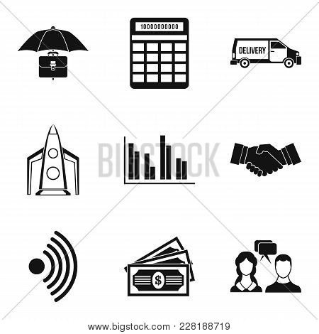 Unique Business Plan Icons Set. Simple Set Of 9 Unique Business Plan Vector Icons For Web Isolated O