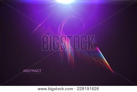 Aurora Borealis Transparent Light Effect. Vector Illustration Of Iridescent Shiny Rays. Natural Pola
