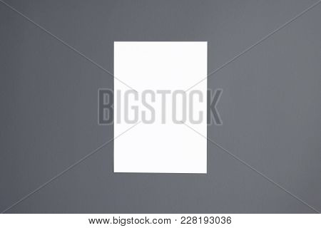 Letterhead Or Flyer Even Document On Grey Background