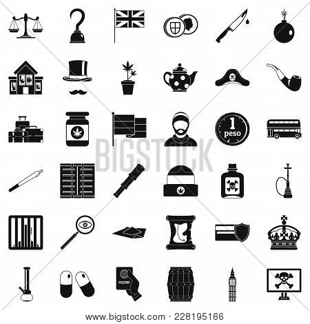 Encroachment Icons Set. Simple Set Of 36 Encroachment Vector Icons For Web Isolated On White Backgro