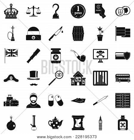 Insult Icons Set. Simple Set Of 36 Insult Vector Icons For Web Isolated On White Background