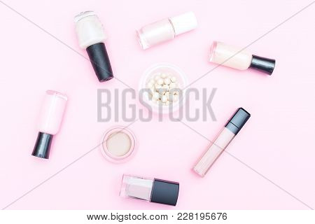 Cosmetics For Make-up Of Natural Color. Natural Amkeup