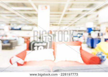 Blur People Inside Modern Funiture Store