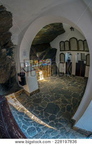 Armenis / Piatra Scrisa, Romania - November 4, 2017: Piatra Scrisa Hermitage, Built In 1929, With An