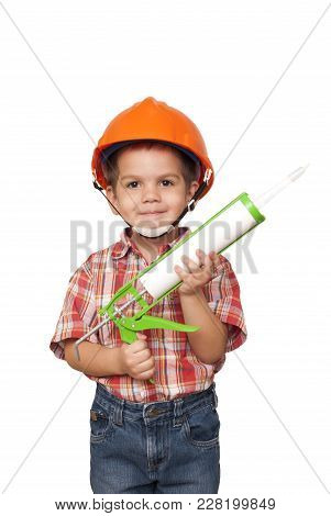 Child Construction Worker And Silicon