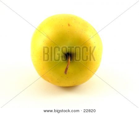 A Bright Yellow Apple