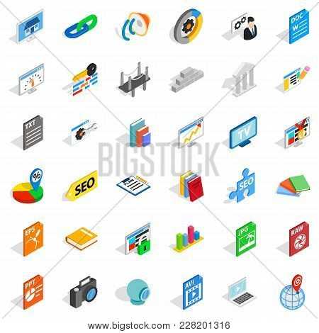 Foreign Trade Organization Icons Set. Isometric Set Of 36 Foreign Trade Organization Vector Icons Fo