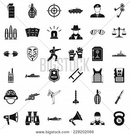 Officer Icons Set. Simple Set Of 36 Officer Vector Icons For Web Isolated On White Background