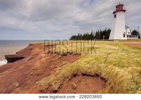 Seacow Head Lighthouse On Prince Edward Island. Prince Edward Island, Canada.
