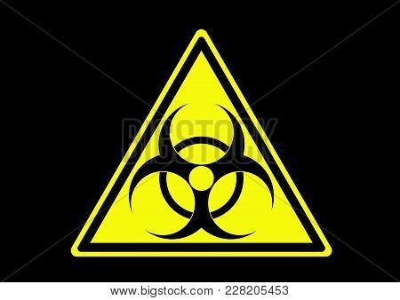 Biological Hazard Warning Area With Symbol For Information