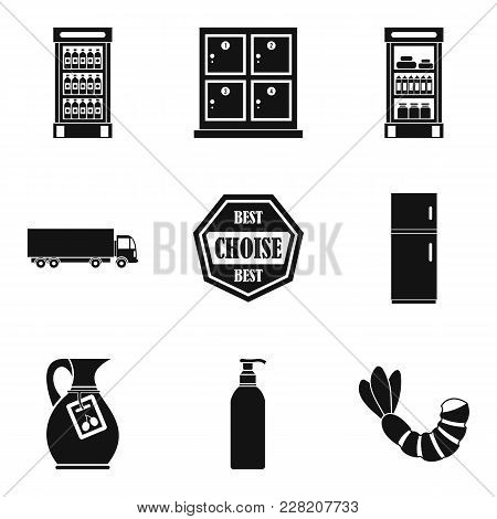 Deli Icons Set. Simple Set Of 9 Deli Vector Icons For Web Isolated On White Background