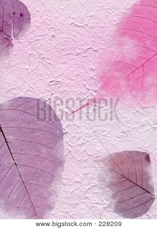 Texture Series - Purple Paper With Leaves