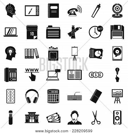 Paperwork Icons Set. Simple Set Of 36 Paperwork Vector Icons For Web Isolated On White Background