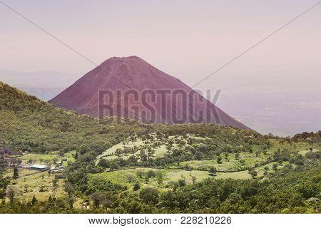 Izalco Volcano In El Salvador. Santa Ana, El Salvador.