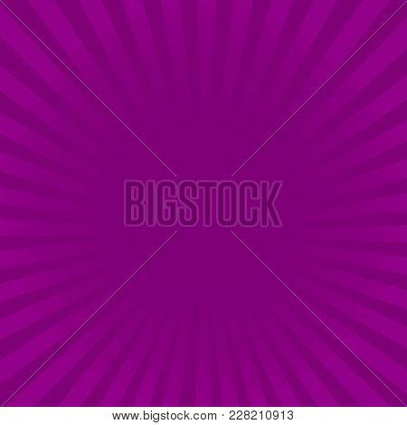 Sunburst Violet Rays Pattern. Radial Sunburst Ray Background Vector Illustration.