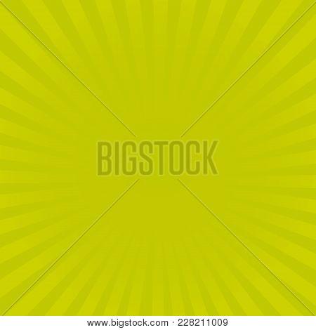 Sunburst Yellow Rays Pattern. Radial Sunburst Ray Background Vector Illustration.