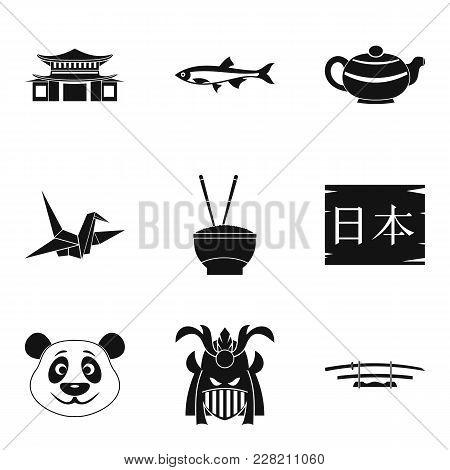 Sushi Bar Icons Set. Simple Set Of 9 Sushi Bar Vector Icons For Web Isolated On White Background