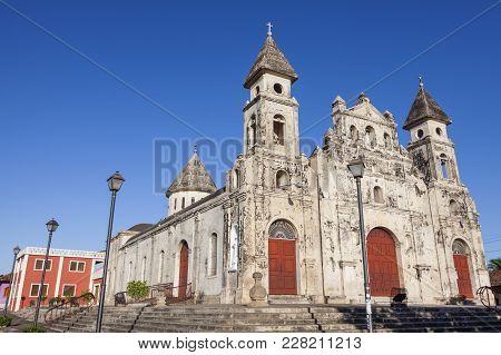 Guadalupe Church in Granada in Nicaragua. Granada, Nicaragua. poster