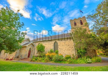 Famous Landmark Of St John The Evangelist Anglican Church, The Oldest Church To Be Consecrated In We