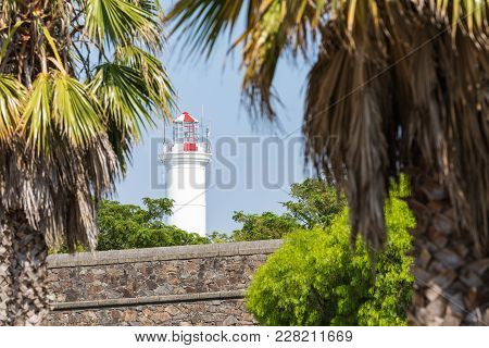Lighthouse Of Historic Neighborhood In Colonia Del Sacramento, Uruguay
