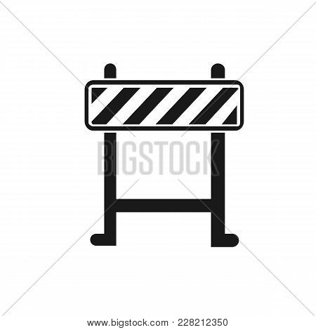 Pictograph Of Barrier. Flat Vector Illustration In Black.