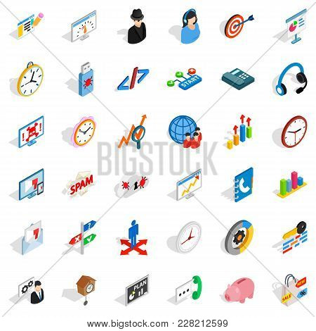 Countertop Icons Set. Isometric Set Of 36 Countertop Vector Icons For Web Isolated On White Backgrou