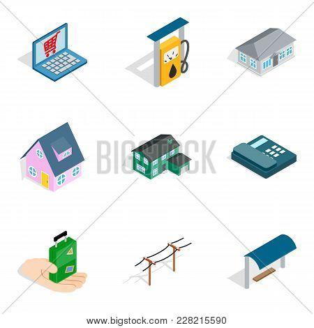 Landlord Icons Set. Isometric Set Of 9 Landlord Vector Icons For Web Isolated On White Background