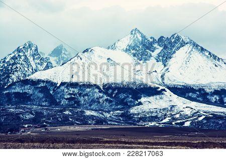Lomnicky Peak, High Tatras, Slovak Republic. Detailed Seasonal Natural Scene. Travel Destination. Bl