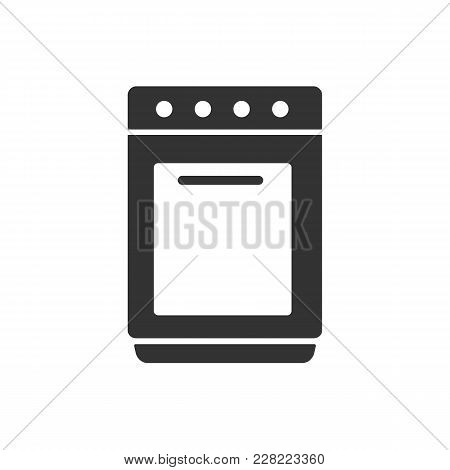 Stove Icon. Stove Vector Isolated On White Background. Flat Vector Illustration In Black. Eps 10