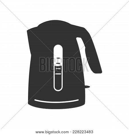 Kettle Icon. Kettle Vector Isolated On White Background. Flat Vector Illustration In Black. Eps 10