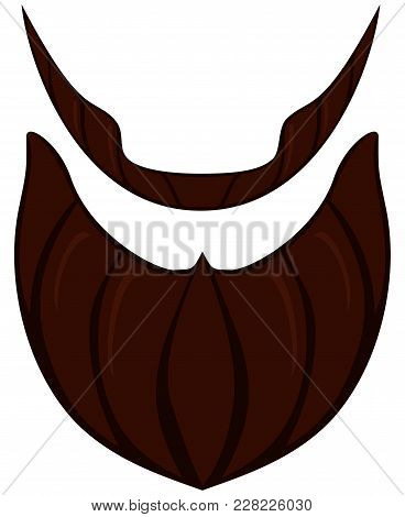 Cartoon Icon Poster Beard, Beaver, Bearded Man Father Dad Day Set. Man Fashion Holiday Bright Colorf