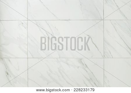 Large Marble Tile Bathroom Wall Making A Background