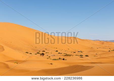 Dunes Of Erg Chebbi, Sahara Desert Morocco