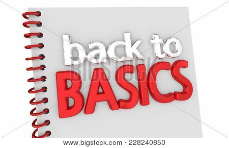 Back to Basics Book Advice Fundamentals 3d Illustration