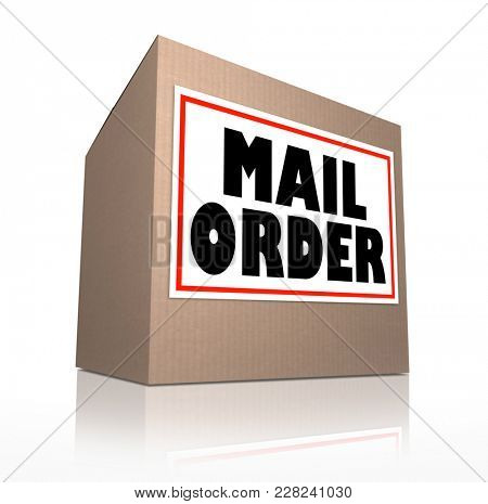 Mail Order Shipping Cardboard Box Delivery 3d Illustration