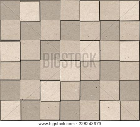 Abstract Background with Cubic Paper Textured Blocks