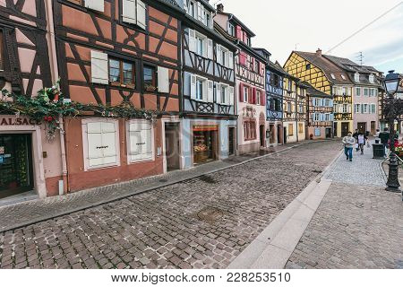 Facades Of Houses In Colmar, France