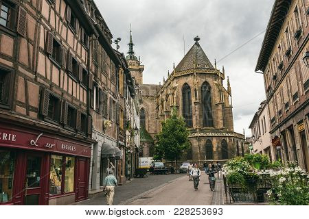 Church In The Village Of Colmar