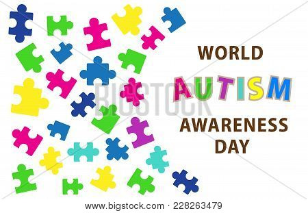 Symbolic Icon Of Colorful Puzzle Piece For Down Syndrome And World Autism Awareness Day Campaign To