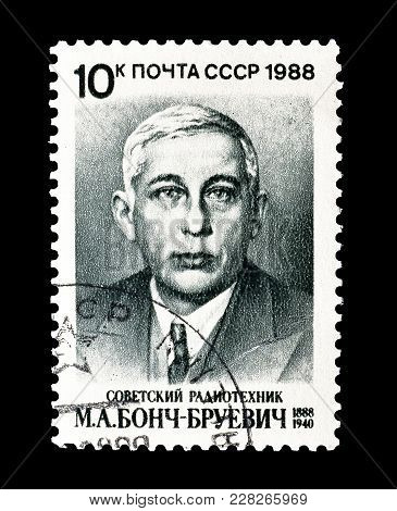 Soviet Union - Circa 1988 : Cancelled Postage Stamp Printed By Soviet Union, That Shows Portrait Of