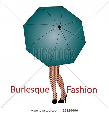 Legs under an umbrella - Burlesque