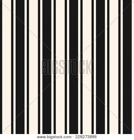 Vertical Stripes Seamless Pattern. Simple Vector Lines Texture. Modern Abstract Geometric Striped Ba