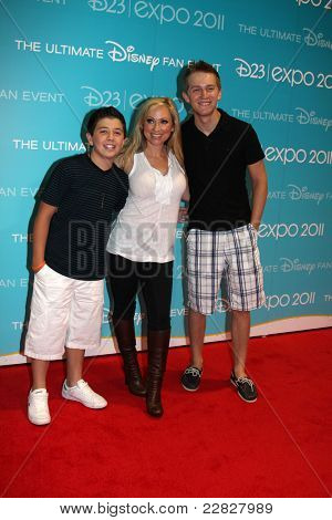 LOS ANGELES - AUG 19:  Bradley Steven Perry, Leigh-Allyn Baker,  Jason Dolley at the D23 Expo 2011 at the Anaheim Convention Center on August 19, 2011 in Anaheim, CA