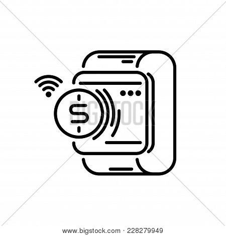 Payment Methods Thin Line Icon. Smartwatch Pay.