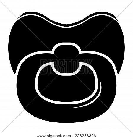 Isolated Baby Pacifier Icon. Vector Illustration Design