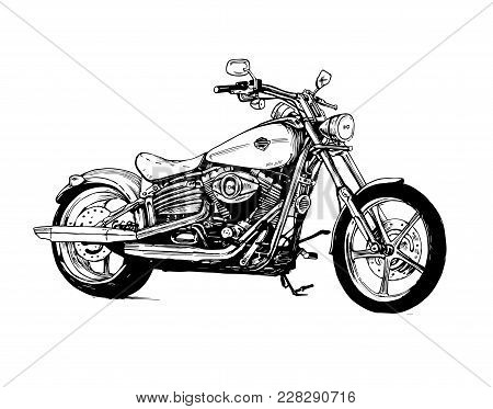 Motorcycle Bike Motorbike Motor Speed Transport Black
